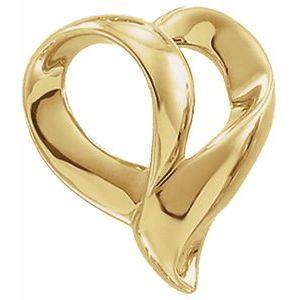 14K White Heart Pendant