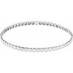 14K White Bangle Bracelet