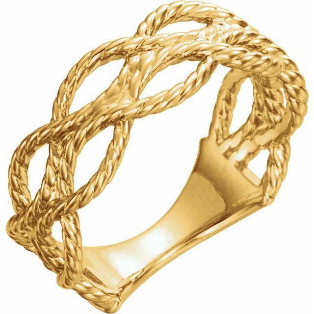 14K Yellow Rope Ring