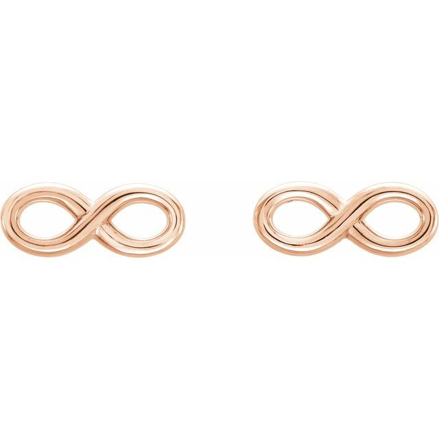 14K Rose Infinity-Inspired Earrings