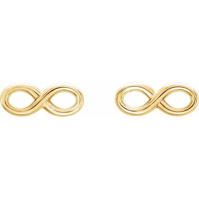 14K Yellow Infinity-Inspired Earrings