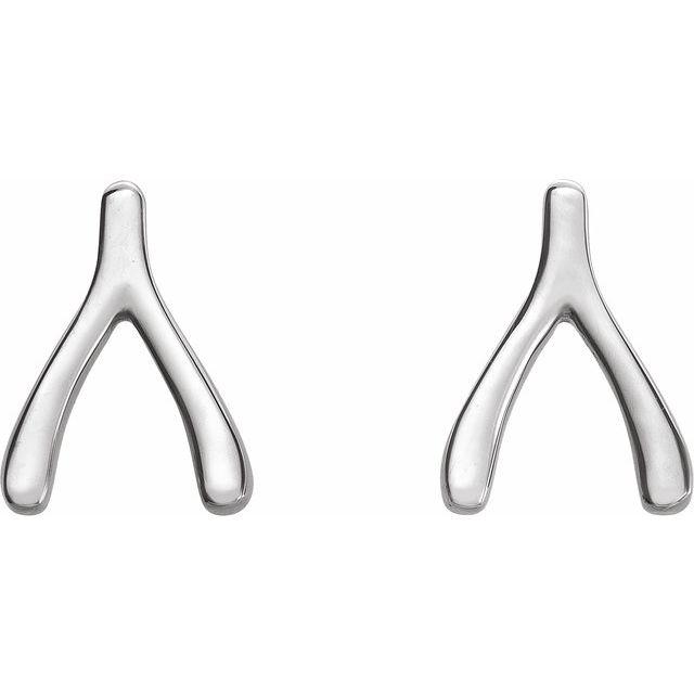 Sterling Silver Wishbone Earrings