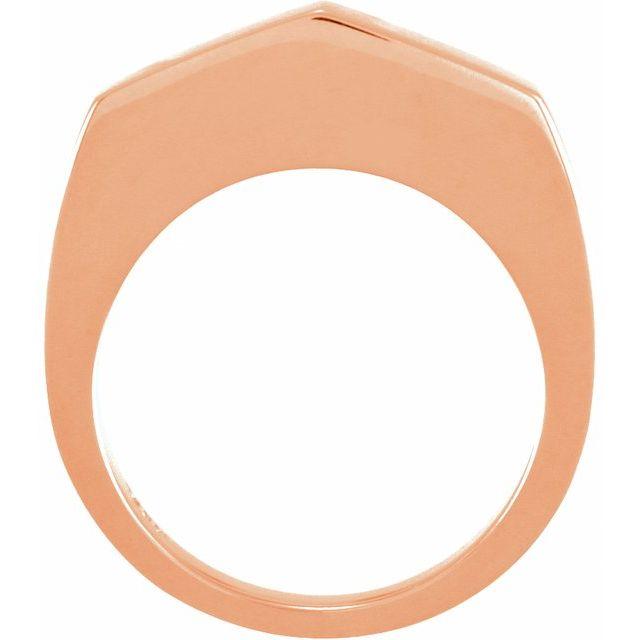 14K Rose Stackable Geometric Ring
