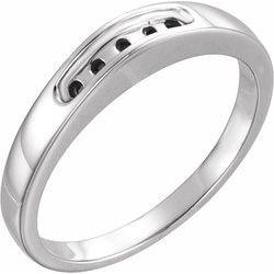 Round Solitaire Neosadený Zásnbuný prsteň alebo Band