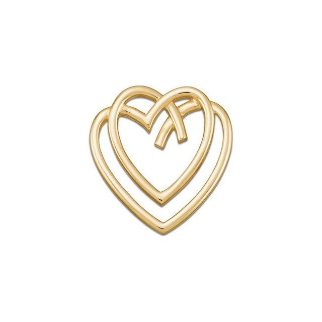 14K Yellow 29.5x28.75 mm Freeform Heart Pendant