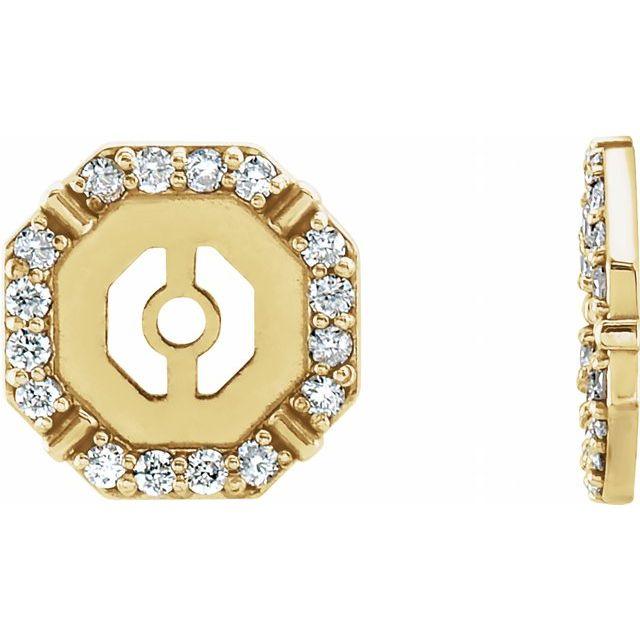 14K Yellow 1/8 CTW Diamond Earring Jackets