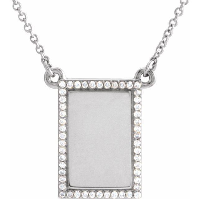 14K White 1/8 CTW Diamond Bar 18