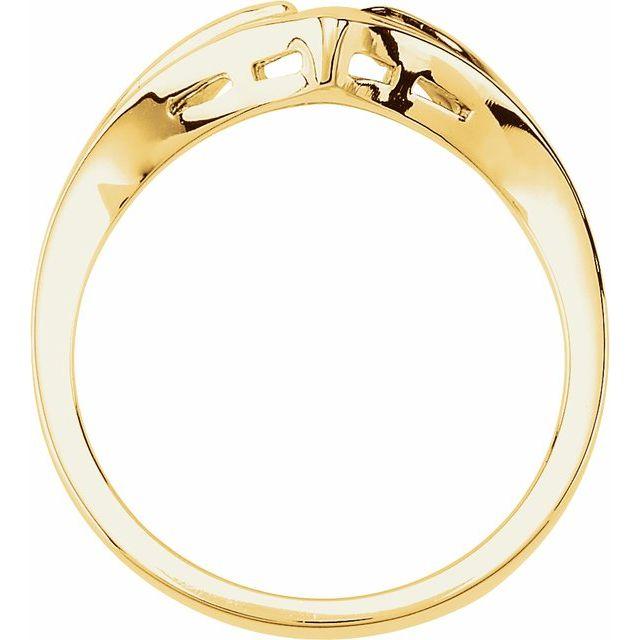 14K Yellow V-Shape Fashion Ring
