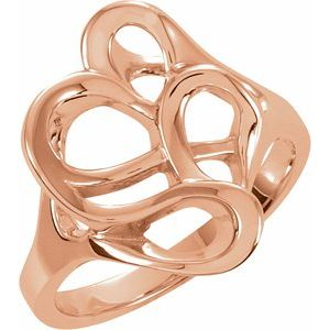 14K Rose Freeform Ring