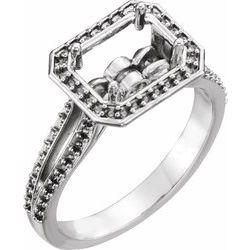 Diamond Semi-mount Engagement Ring or Mounting