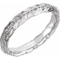 Vyrezávaný zásnubný prsteň - základ alebo Eternity obrúčka