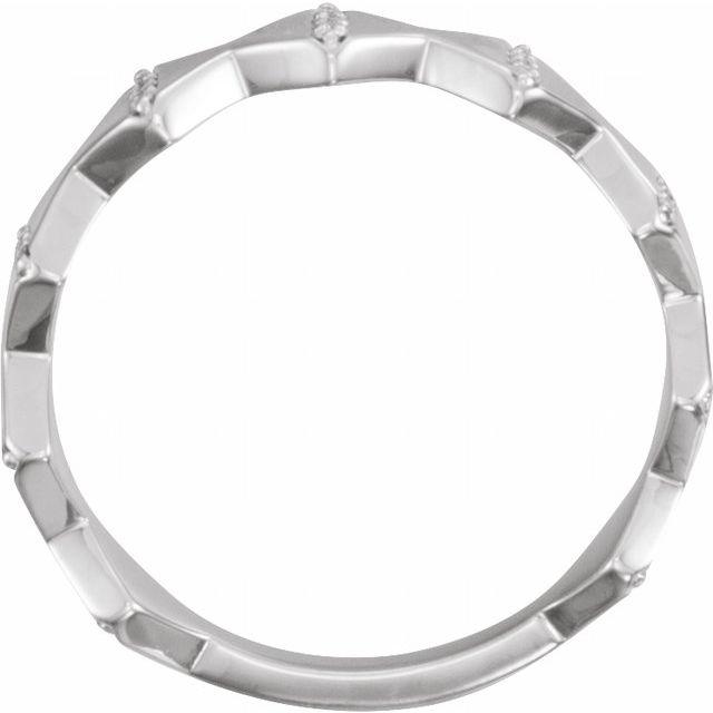 Sterling Silver 1/10 CTW Diamond Geometric Ring