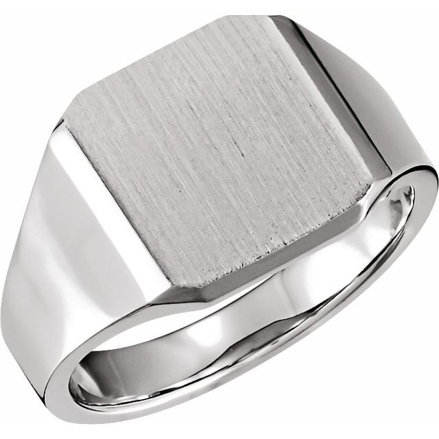 Sterling Silver 14 mm Octagon Signet Ring