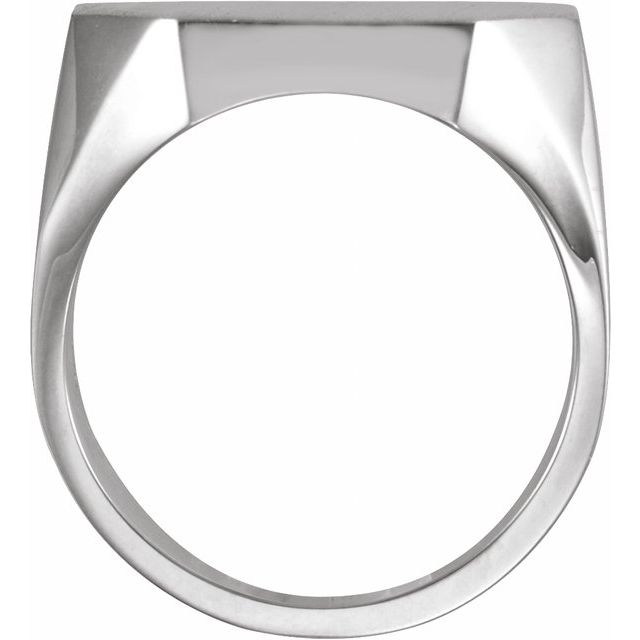 Sterling Silver 22x20 mm Octagon Signet Ring