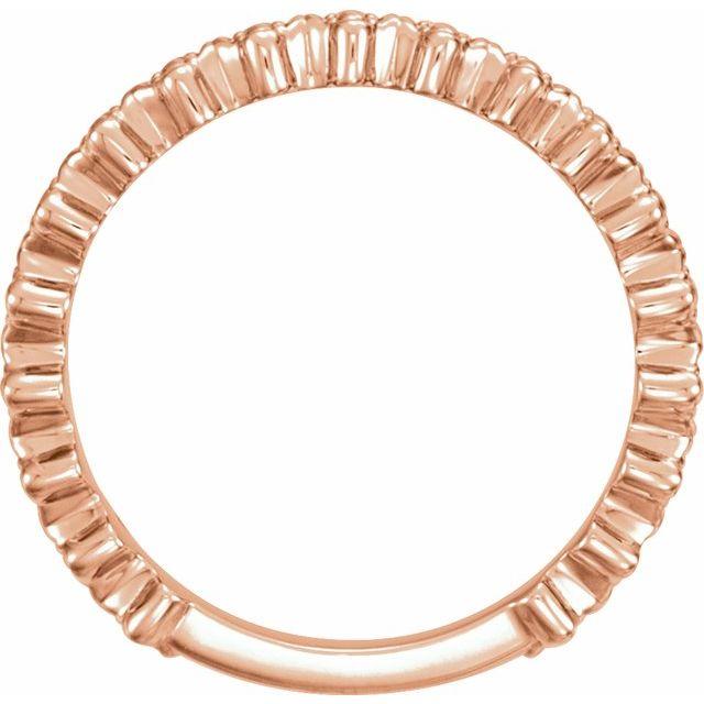 14K Rose Clover Stackable Ring