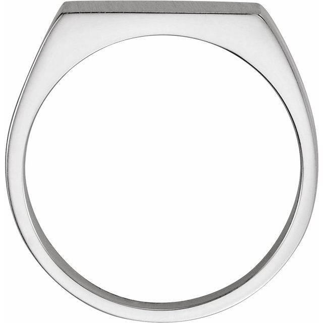 Sterling Silver 15x11 mm Rectangle Signet Ring