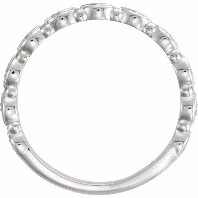 14K White 1/8 CTW Stackable Diamond Ring