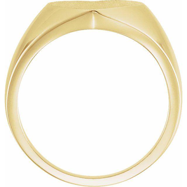 14K Yellow 11x10 mm Heart Signet Ring