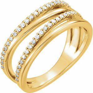 14K Yellow 1/4 CTW Diamond Ring