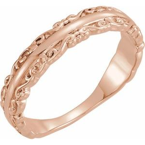 14K Rose Stackable Ring