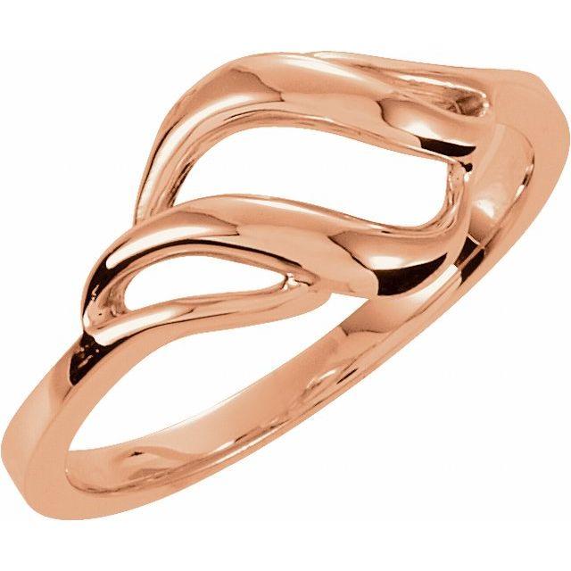 14K Rose Metal Ring