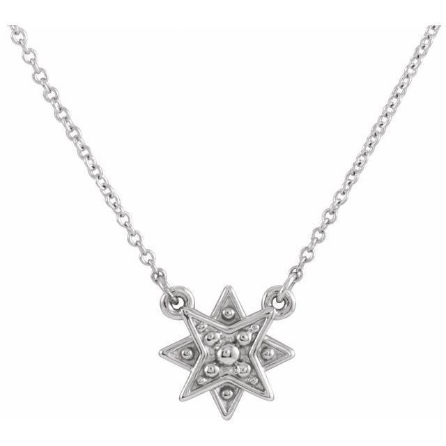 Sterling Silver Star 16-18