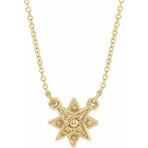 "14K Yellow Star 16-18"" Necklace"