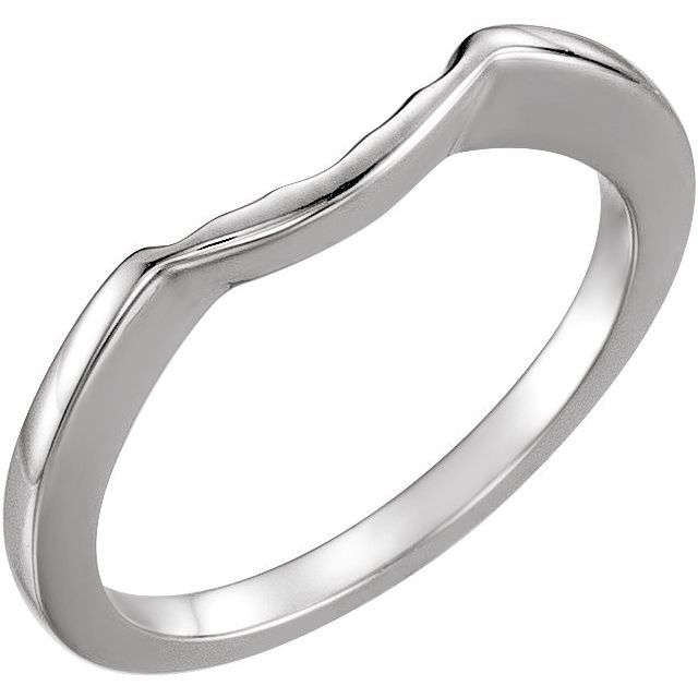 14K White Matching Band for 5.2 mm Round Ring