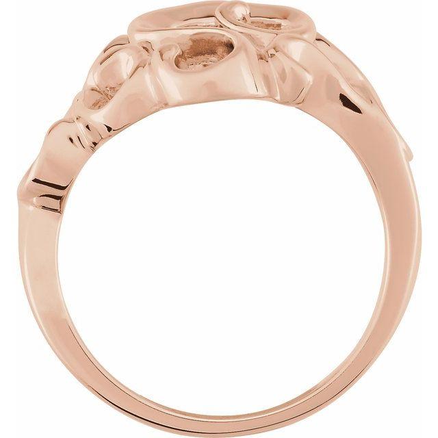 14K Rose Metal Fashion Ring