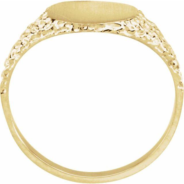 14K Yellow 9 mm Round Signet Ring