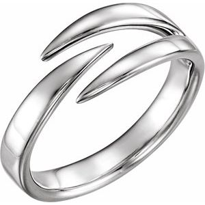 14K White Negative Space Ring