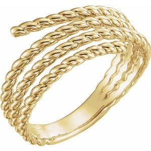 14K Yellow Rope Ring