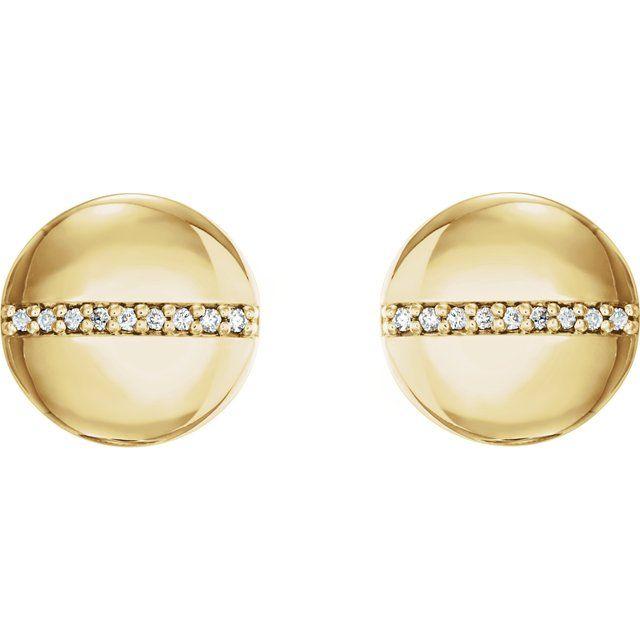 14K Yellow .04 CTW Diamond Circle Earrings