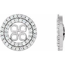 Diamond Earring Jackets alebo neosadený for Pearl