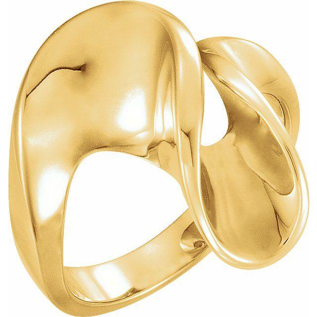 14K Yellow Freeform Ring