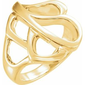 14K Yellow Metal Fashion Ring