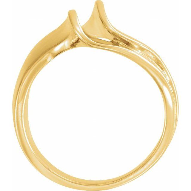 14K Yellow 18 mm Freeform Remount Ring