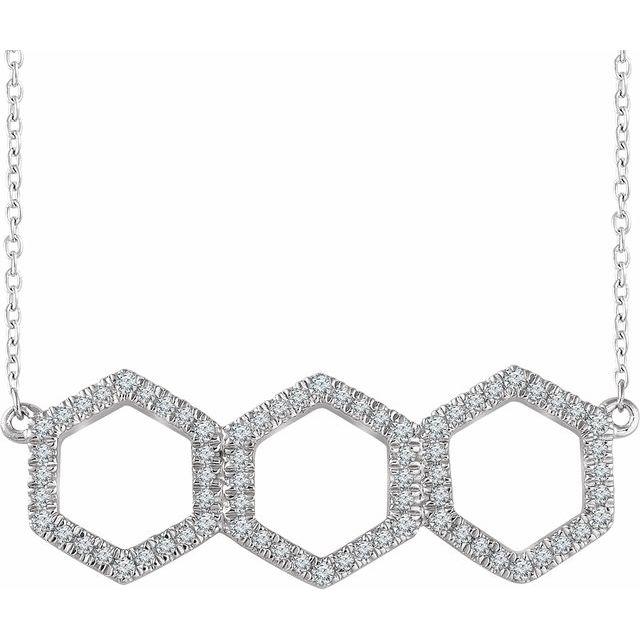14K White 1/4 CTW Diamond Geometric 16-18