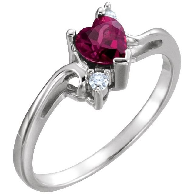 Accented Heart Ring