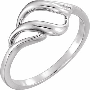 14K White Metal Ring