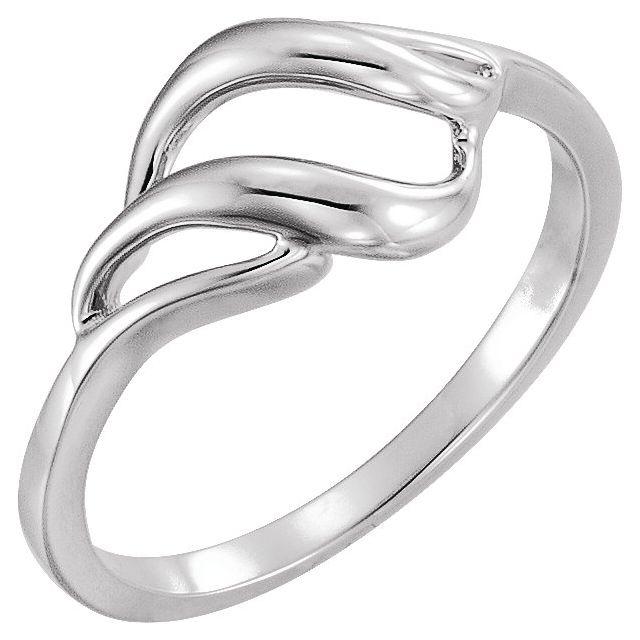 14K White Metal Ring