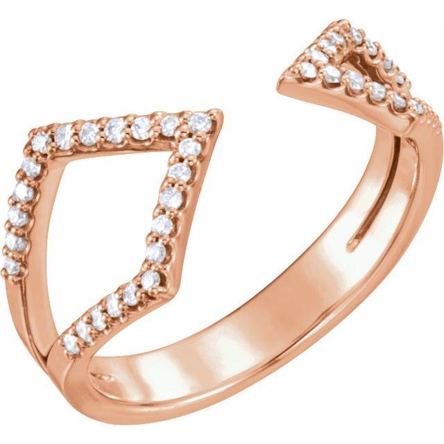 14K Rose 1/5 CTW Diamond Geometric Ring