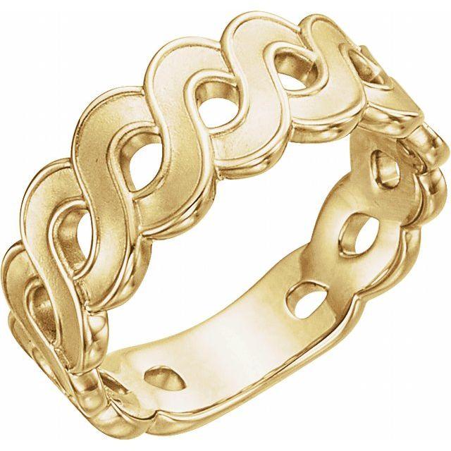 14K Yellow Infinity-Style Ring