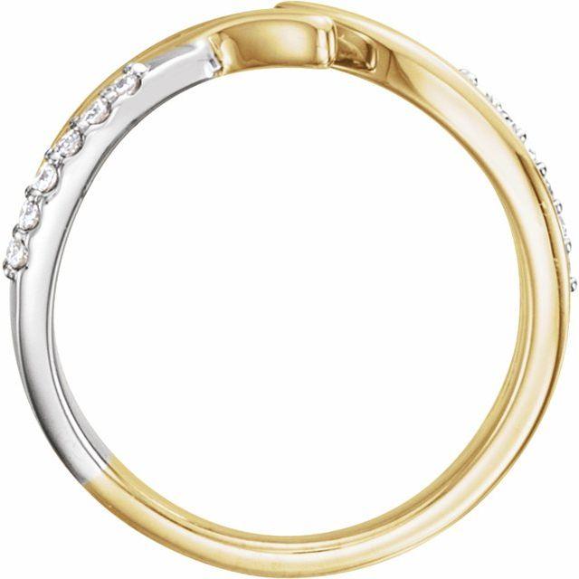 14K Yellow & White 1/8 CTW Diamond Bypass Ring