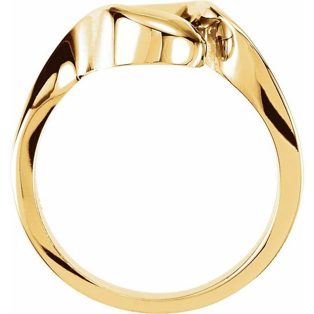 14K White 12 mm Freeform Ring