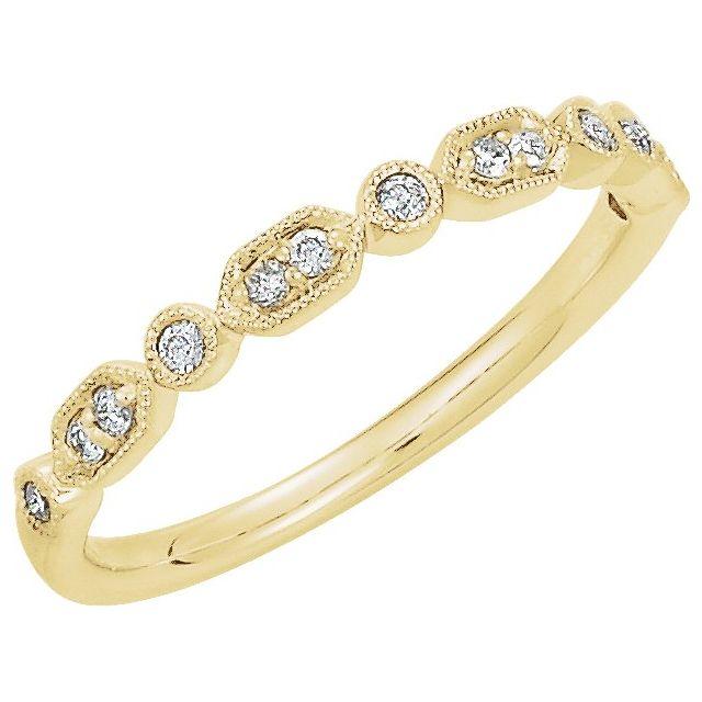14K Yellow 1/8 CTW Diamond Ring