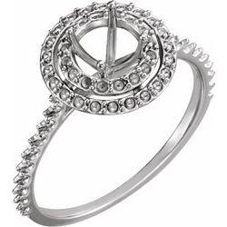 Halo-Styled Engagement Ring alebo Band Mounting