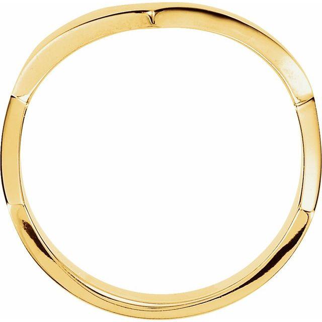 14K Yellow V Shaped Ring