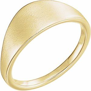 14K Yellow 21x7 mm Geometric Signet Ring