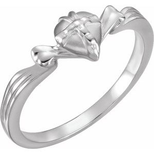 Continuum Sterling Silver The Gift Wrapped Heart® Ring Size 8